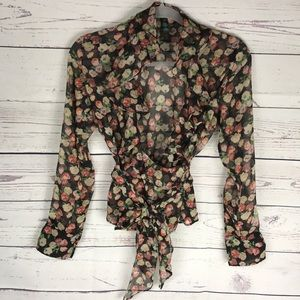 Ralph Lauren Petite Floral Sheer Top